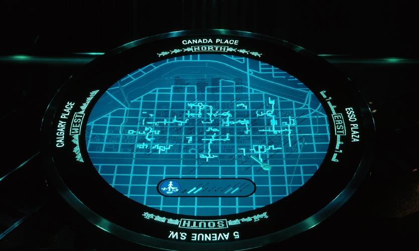 Calgary +15 Skywalk wayfinding system