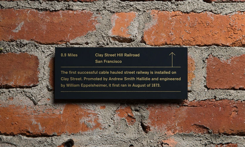 We identified key local research-based discoveries and accomplishments—Bloomberg associated or otherwise —throughout history. We then imprinted them (with their distance from the office) on plaques.