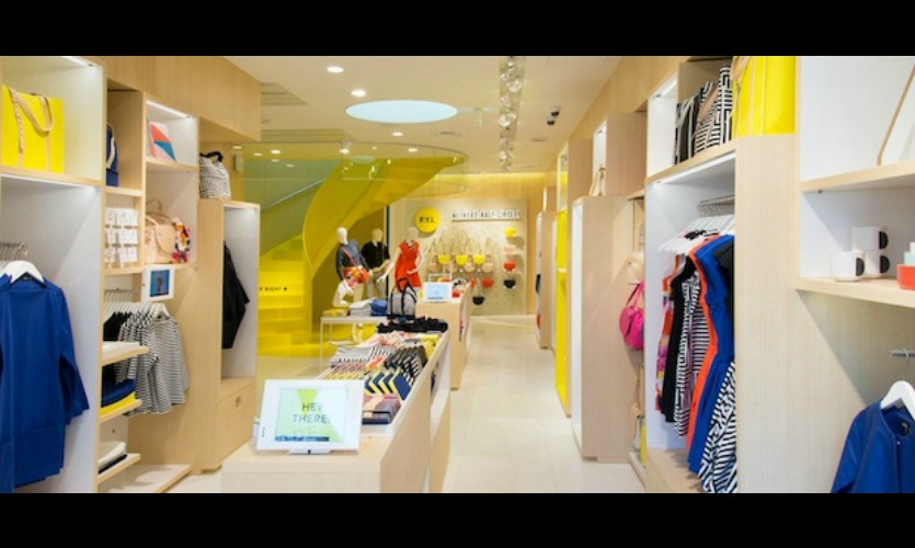 At Kate Spade's Saturday store in Tokyo, iPads deliver images, videos, and product stories to shoppers, encouraging them to stay longer and connect with the brand.