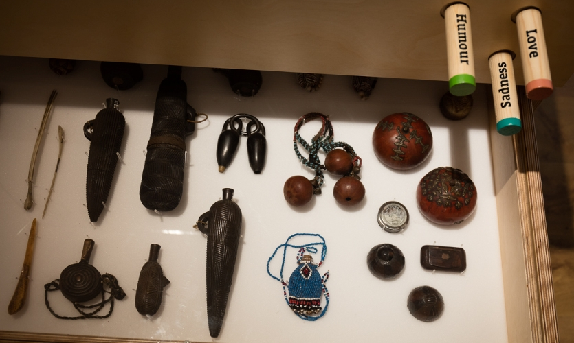 Audience-Curated artifact case at Derby Museum, photo: Jason McKeown