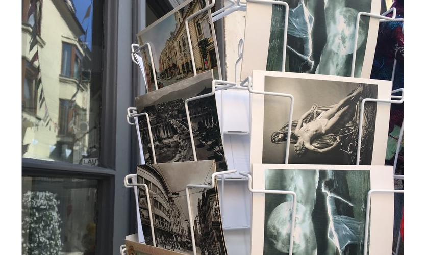 The Power of the Postcard (Greece): Postcards are still for sale, but almost totally out of use. But, postcard photography still shapes our perceptions of a place and its culture.