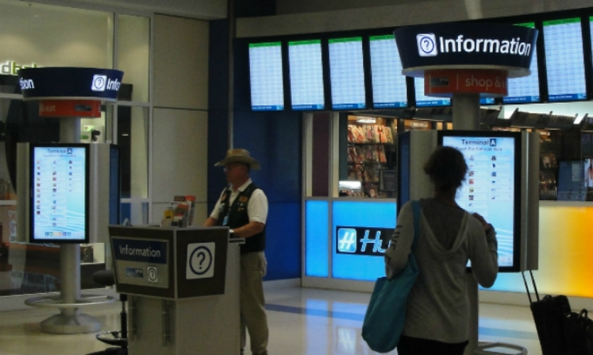 New airside information nodes feature interactive directories where passengers can access services, their flight times, and other amenities.