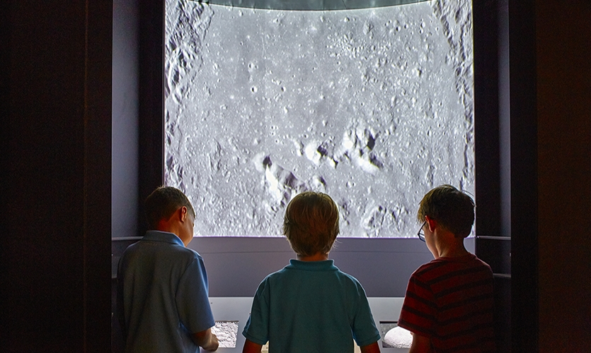 Dimensional Innovations developed a 3-D projection pod that gave visitors access to virtually travel from Earth, through the solar system and even outside of the solar system using live-updated photogrammetry from NASA