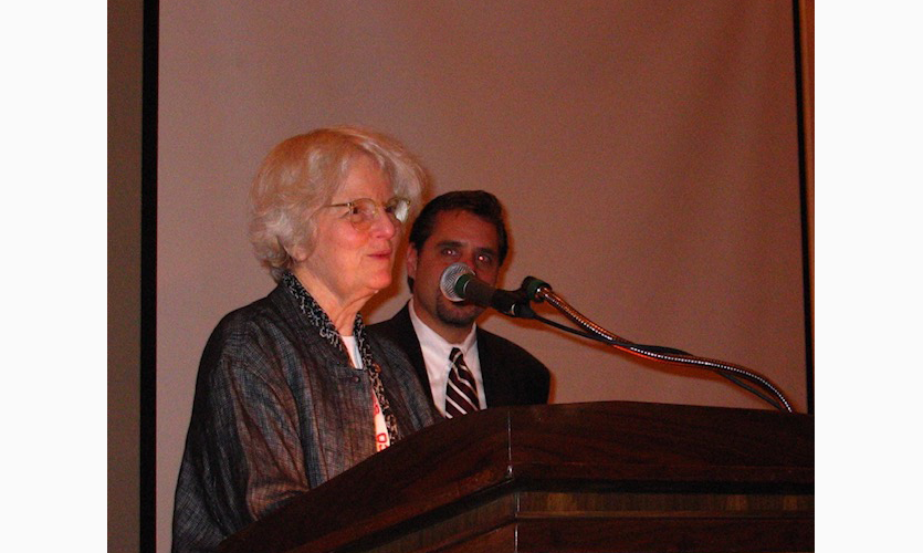 Denise Scott Brown receiving her Fellow Award in 2003