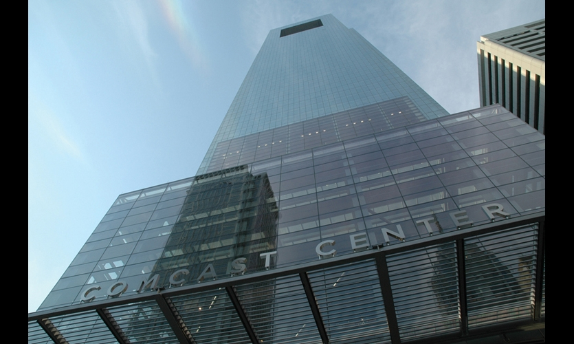 The 58-story Comcast Center was designed by Robert A.M. Stern Architects with Kendall/Heaton Associates.