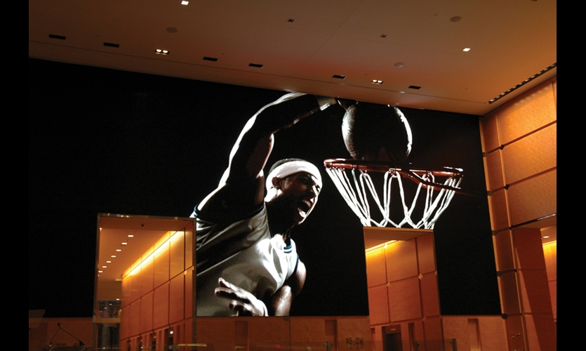 Niles Creative Group designed four content modes, including one that features glimpses of city life and sporting icons.