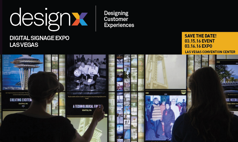 DesignX happens March 15-16 as part of Digital Signage Expo 2016.