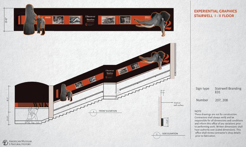 Stairwell graphics, floor I-II  (work of Anvita Trivedi)