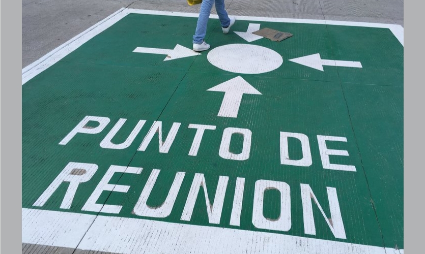 Meeting Place: The Punto de Reunion symbol appears on the ground everywhere, from gas stations to museums to seemingly random street locations all over the city, from quite small to quite large and some are numbered.