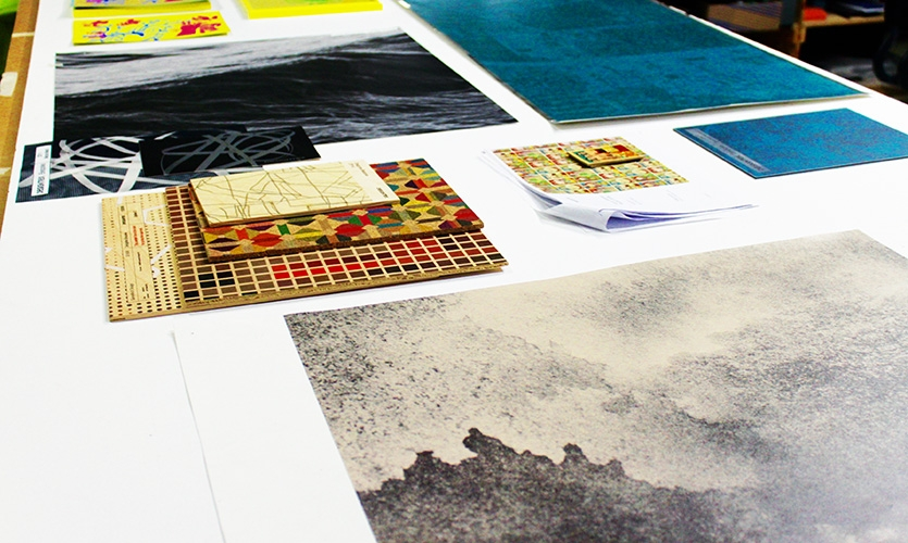 Designtex has a dizzying array of substrates and samples.