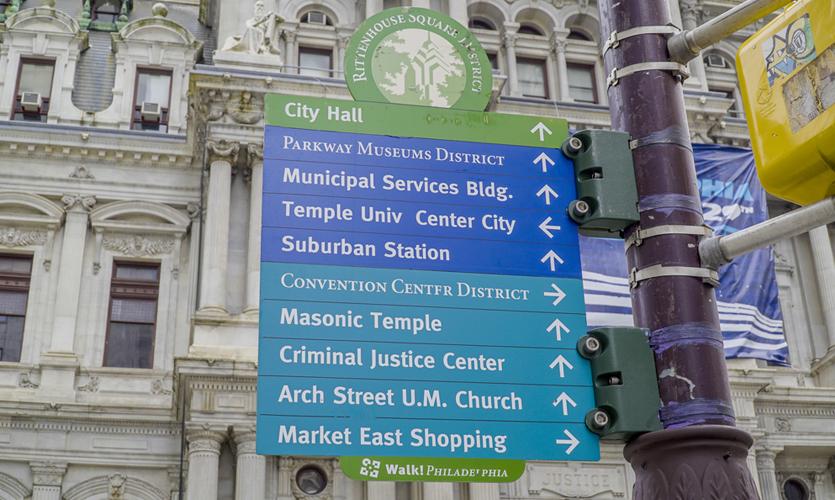 Directional Signs in Philadelphia's City Center, Photo courtesty of Joseph Mackereth