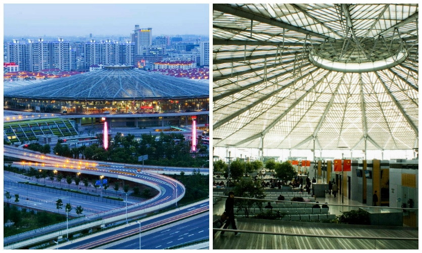 Fig. 1. The new Shanghai South Railway Station features a unique circular design that makes wayfinding challenging.