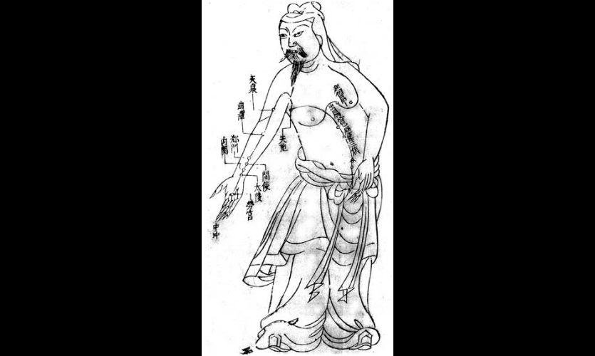Fig. 3. The systemic philosophy inherent in the traditional Chinese practice of acupuncture was applied to the wayfinding system.