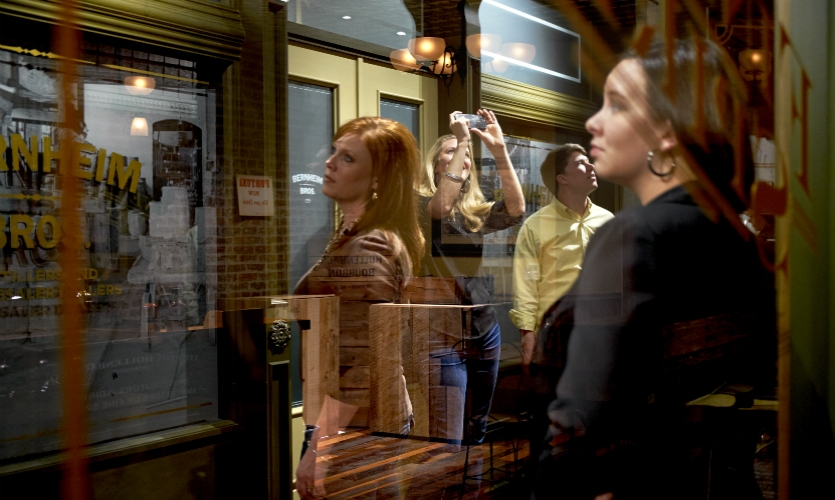 The experience is the first Louisville stop on the famed Kentucky Bourbon Trail.