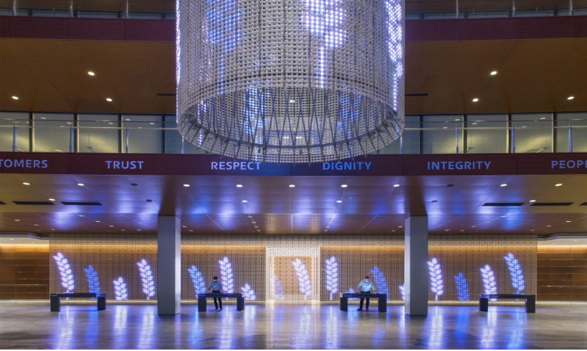 The Eaton Experience Center is a multimedia installation in the power management company's Cleveland, Ohio, location.