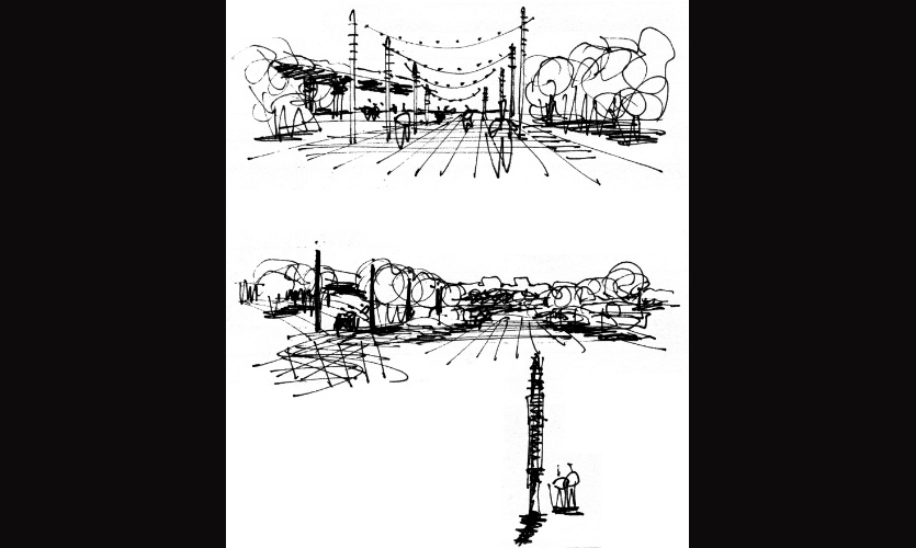 These sketches were generated during an early on-site meeting for a then-new mixed-use development on the River Danube in Bratislava, Slovak Republic.
