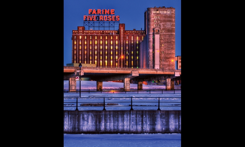 The Montreal Signs Project is dedicated to saving treasured historic signs. The group is trying to preserve the heritage of the iconic Farine Five Roses Flour sign, which has been a part of the Montreal skyline since 1948. (Photo: Éric Constantineau)