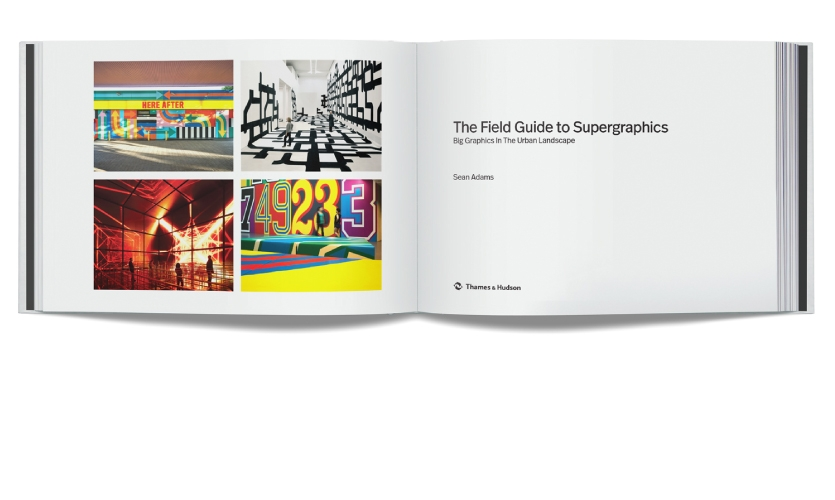 The Guide features over 60 projects and breaks down what makes them so successful from function to visual language. The discussion includes interviews with leading design practitioners, categorizing supergraphics work into four sections.