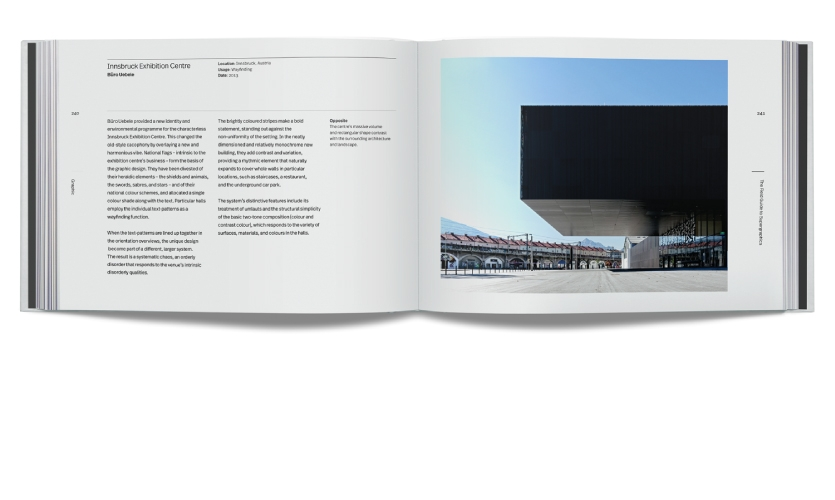 """Chapter 4: Graphic features """"Innsbruck Exhibition Centre"""" by Büro Uebele"""