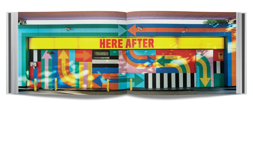 Designers Craig & Karl have playfully revived a derelict petrol station on Wood Lane in London's White City to create HERE AFTER, a public and visually arresting art installation that riffs on the area's importance to British broadcasting history.