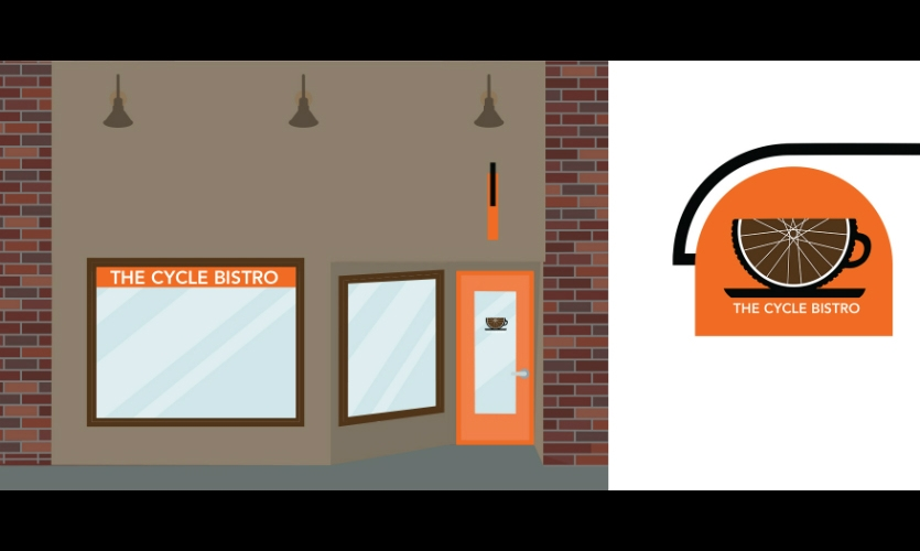 Fig. 10. Design for invented business Cycle Bistro (Lu Lawrence)
