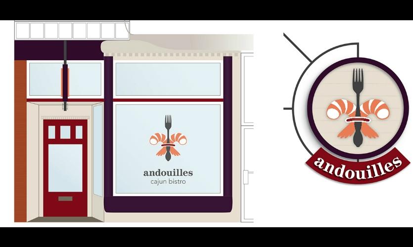 Fig. 11. Design for invented business Andouilles (Lauren Ehlers)