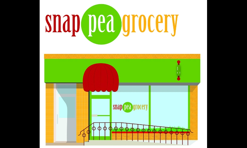 Fig. 16. Design for invented business Snap Pea Grocery (Hannah McKinley)