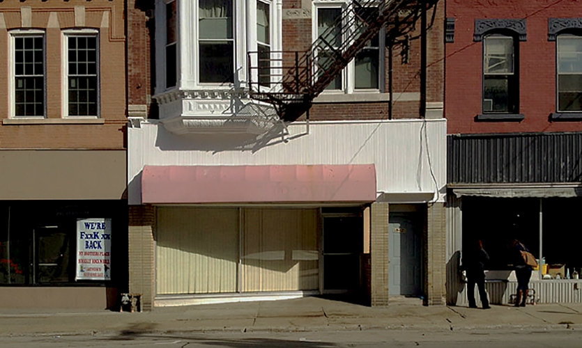 Fig. 1. Derelict retail district