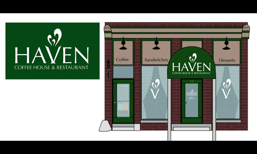 Fig. 3. Logo and storefront design for Haven Restaurant