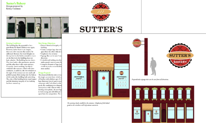 Fig. 4. Design proposal for Sutters Bakery