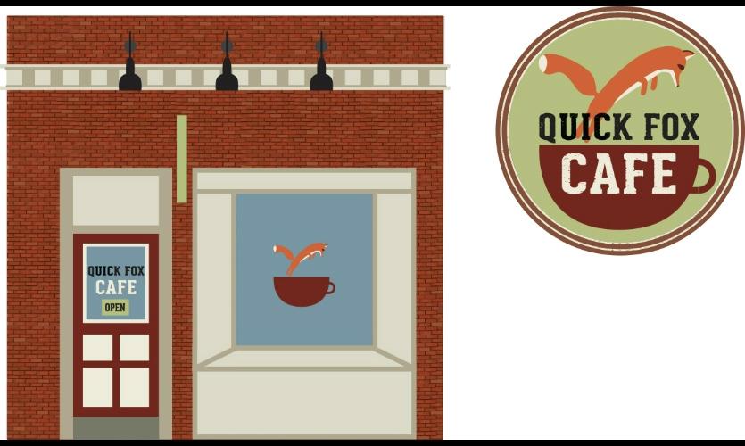 Fig. 8. Design for invented business Quick Fox Cafe (Kake Derksen)