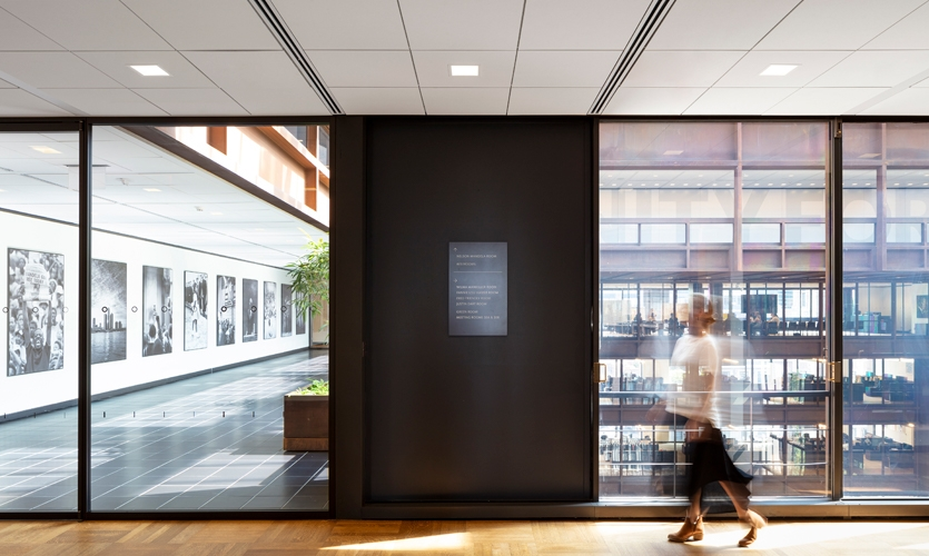 Gensler developed a signage program and wayfinding strategy includes braille integrations to ensure a seamless journey for all persons.