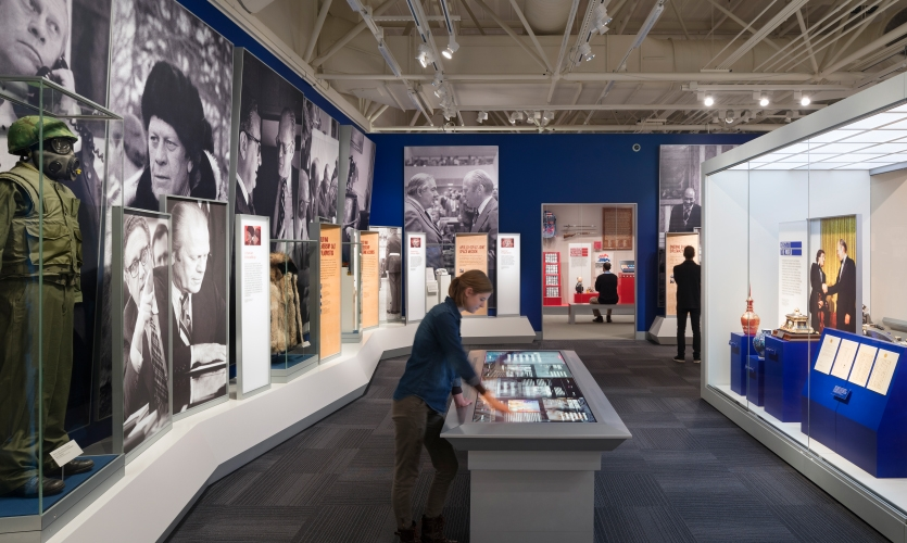 The interactives take a deep dive into stories and events that influenced the personal life and career of President Ford.