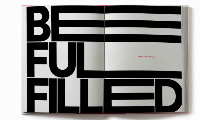 This is his favorite typographical spread.