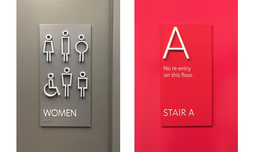 ADA signage received a playful makeover.