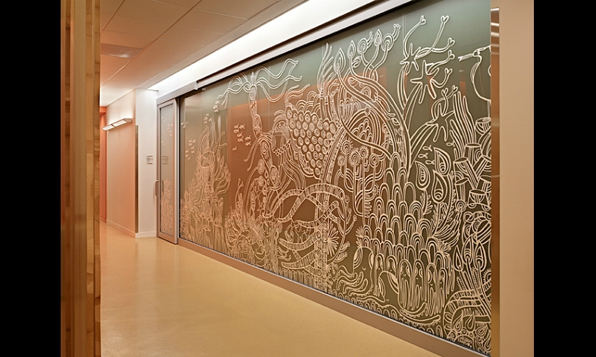 At several clinics and surgery centers, artwork by illustrator Zaara (Kittenchops) is featured in corridors and exam rooms.