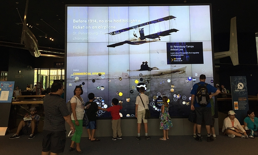 GO FLIGHT at the National Air and Space Museum | Interactive wall