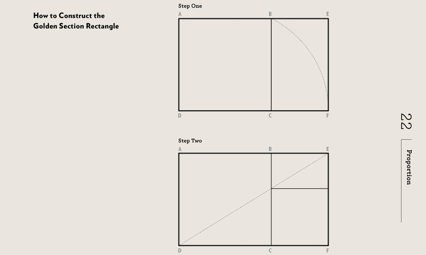 Anyone can construct the golden section or rectangle and use it as a base for developing meaningful compositional relationships.