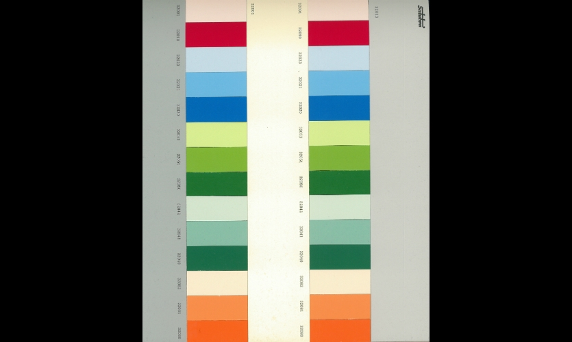 Le Corbusier's tonal color keyboards were also an inspiration. (Le Corbusier, Polychromie architecturale).