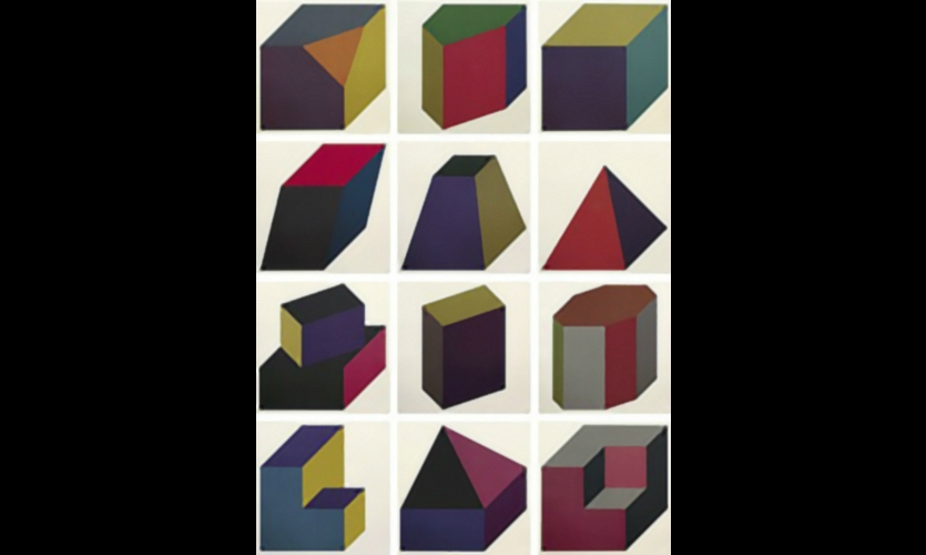 The Holmes Wood team was inspired by Sol LeWitt's cubic forms. (Forms Derived from a Cube (Colors Superimposed) (S-82), 1991)