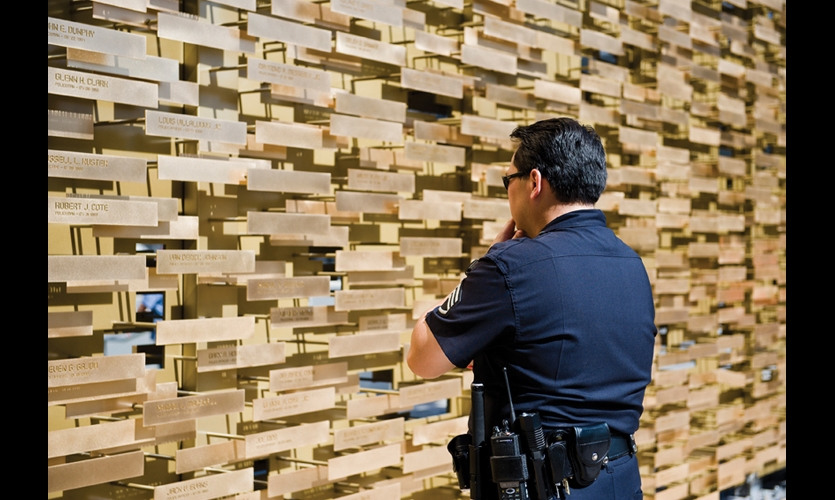 The Gensler design team hoped the new memorial would invite visitors to make both a physical and emotional connection with the police force and its fallen heroes.