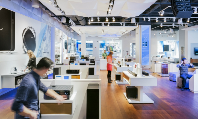 Gensler designed a suite of interactives that provide shoppers a one-of-a-kind customer experience.