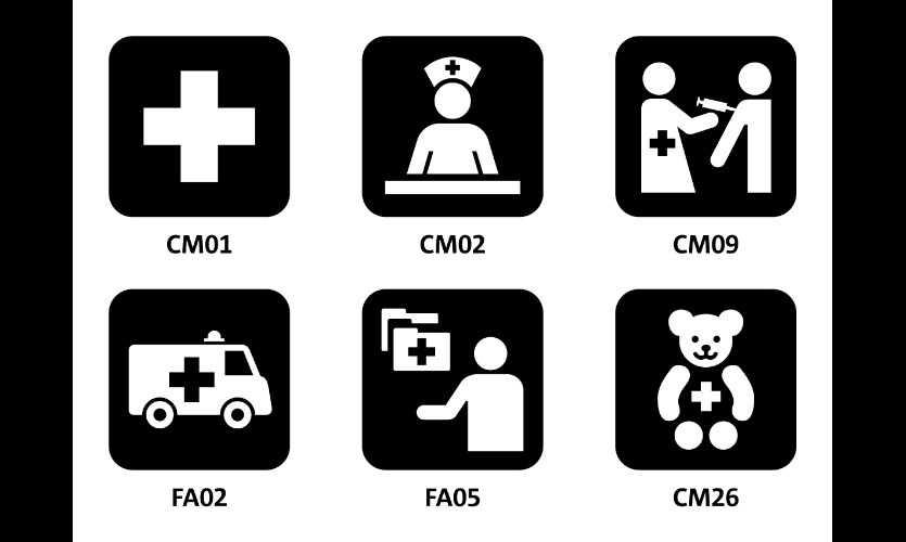 "Fig. 18. Hablamos Juntos: ""First Aid"" and related symbols"