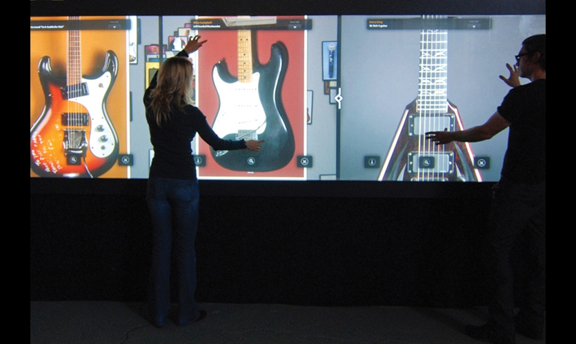 Obscura Digital designed the Rock Wall so that up to six guests have their own personal viewing and sound zones.
