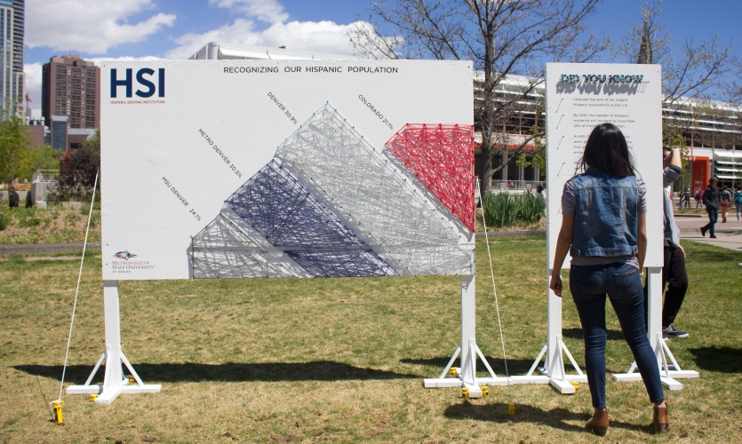 Another side brought awareness of the Hispanic Serving Institution status that MSU Denver was close to obtaining.