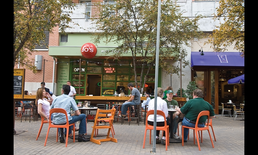 Jo's Coffee is a newer landmark, but has become a major destination in Austin's hip, vibrant SoCo (South Congress Avenue) neighborhood.