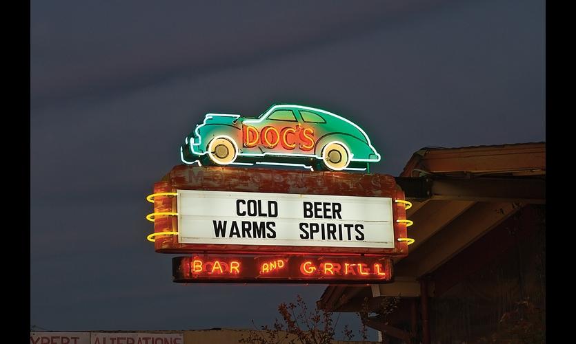 Doc's Motorworks Bar & Grill is an Austin landmark. Photos by Paul Hester