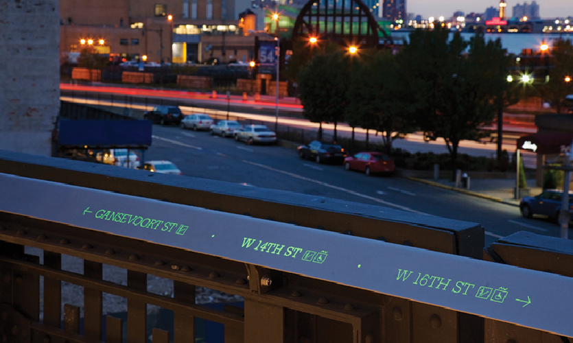 The High Line Signage: Global Design Honor Award 2012, Pentagram