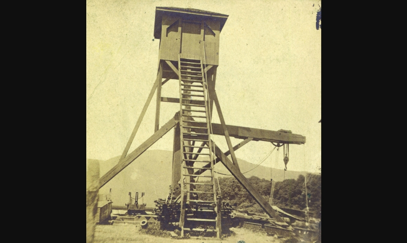Historic photo of the tower (Photo: Putnam History Museum)