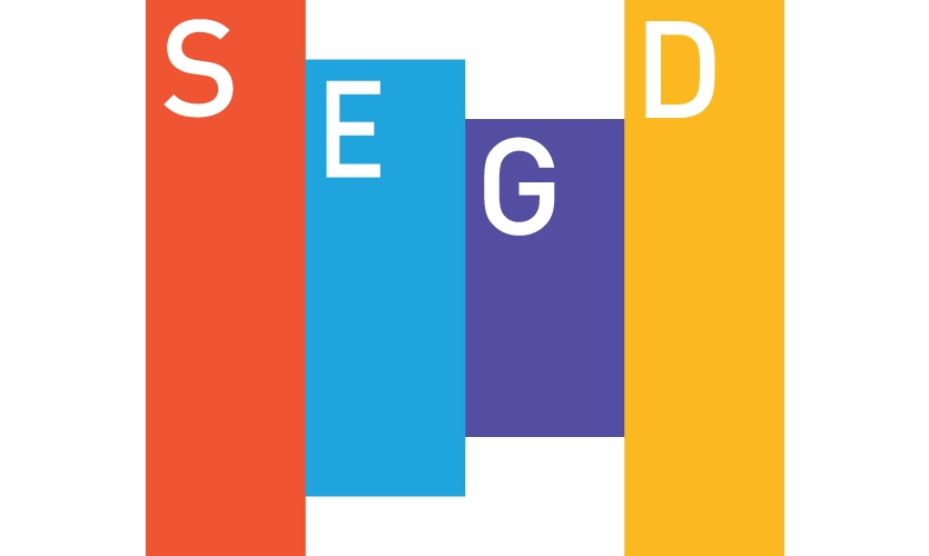 In 2012, we redesigned SEGD's magazine. I was inspired by the then-new SEGD logo.